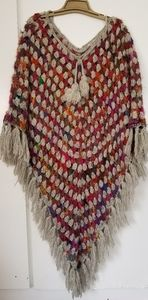 Vintage Crocheted Poncho